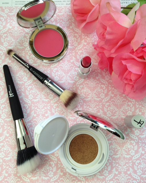 """IT Cosmetics """"Beautiful Skin"""" collection with products open to show their colors neversaydiebeauty.com @redAllison"""