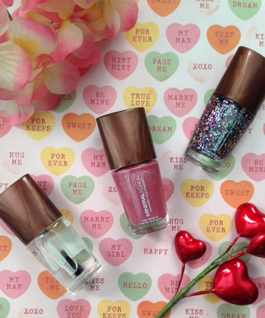 Mineral Fusion Nail Lacquers: cream, glitter & gel topcoat neversaydiebeauty.com @redAllison