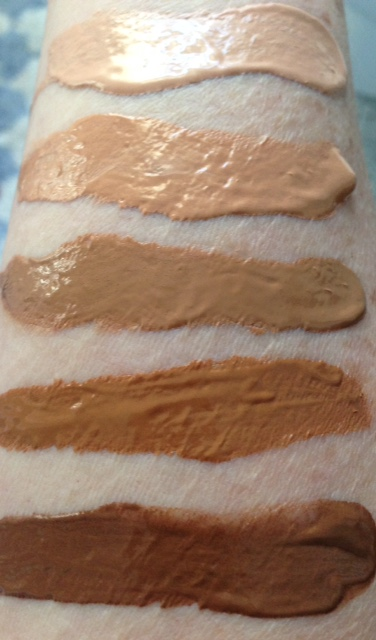 swatches PUR HydraFluid Water Serum Foundation neversaydiebeauty.com @redAllison