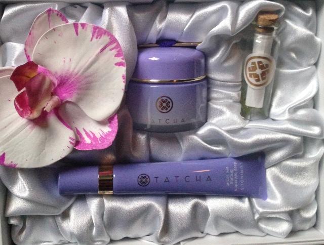 Tatcha Luminous Eye Serum & Overnight Memory Serum Concentrate in presentation box neversaydiebeauty.com @redAllison