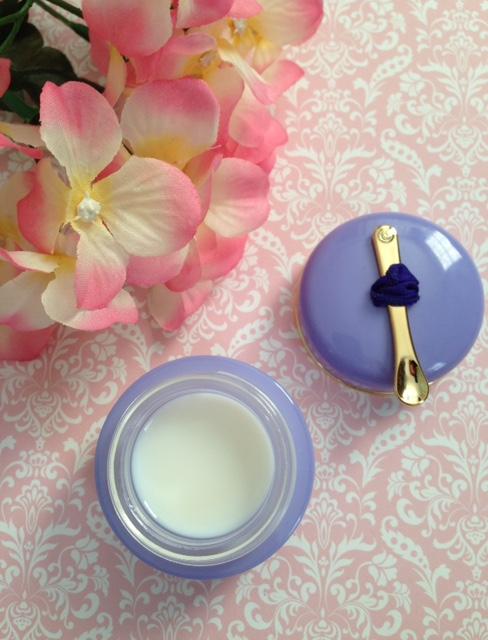 Tatcha LUMINOUS Overnight Memory Serum open jar showing unique gelee neversaydiebeauty.com @redAllison