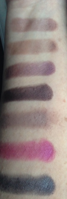 Too Faced Chocolate Bon Bons eyeshadow palette darker swatches neversaydiebeauty.com @redAllison