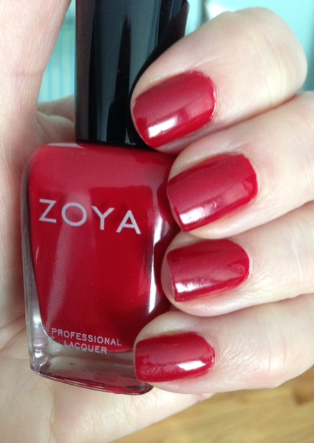 Zoya Nail Lacquer in Janel, a red cream with warm undertones neversaydiebeauty.com @redAllison