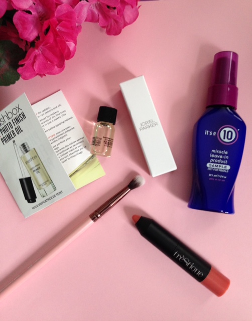 "the cosmetics inside my February 2016 Ipsy bag, ""Pretty in ""#IpsyPink"" neversaydiebeauty.com @redAllison"