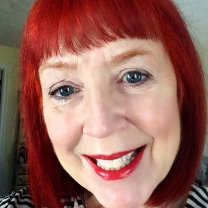 me wearing Burt's Bees Scarlet Soaked red lipstick neversaydiebeauty.com @redAllison