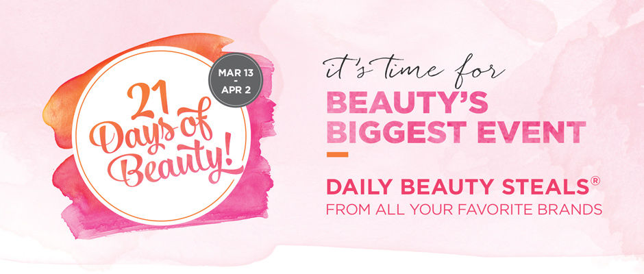 Ulta 21 Days of Beauty logo neversaydiebeauty.com