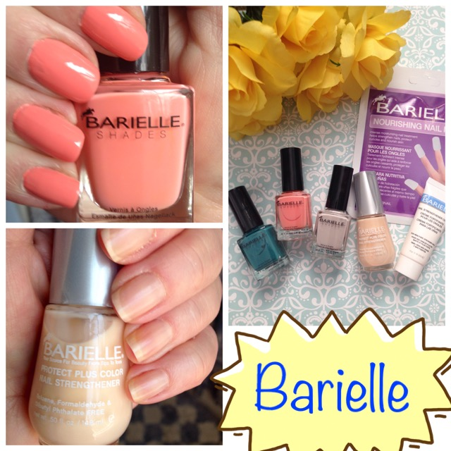 collage of Barielle products & my nails wearing them neversaydiebeauty.com @redAllison