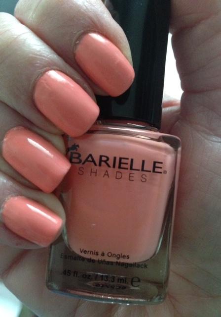 Barielle Nail Polish, Blossom, a pastel peach shade neversaydiebeauty.com @redAllison