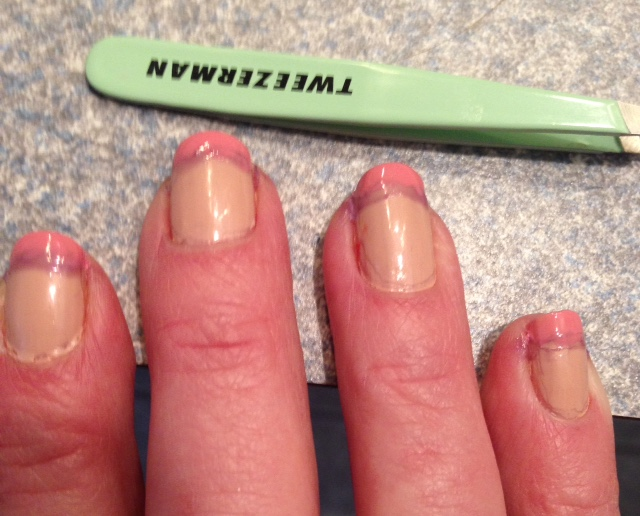 French manicure painted nail tips with Liquid Palisade barrier neversaydiebeauty.com @redAllison