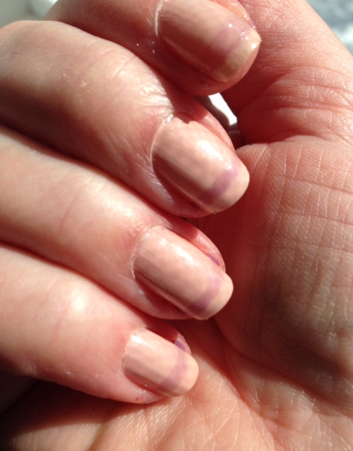 French manicure tip barrier painted with Liquid Palisade neversaydiebeauty.com @redAllison