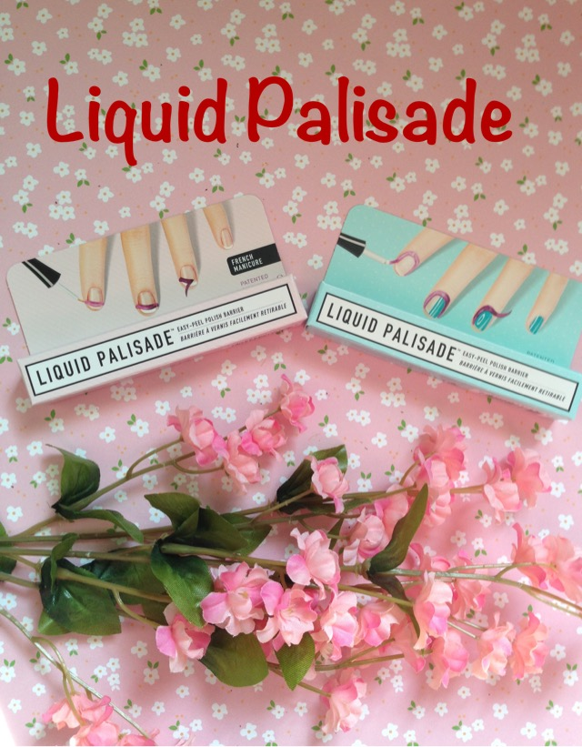 boxes of Liquid Palisade, a nail care product that makes painting my nails neater neversaydiebeauty.com @redAllison