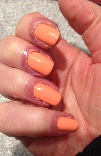 Liquid Palisade with nail polish neversaydiebeauty.com @redAllison