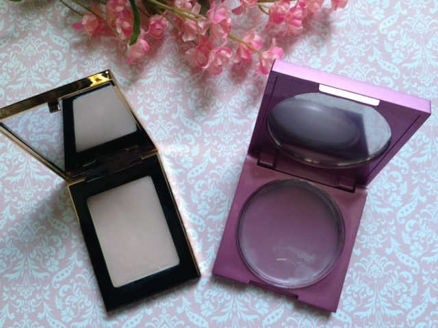 Mally Face Defender vs YSL Blur Perfector open compacts neversaydiebeauty.com @redAllison
