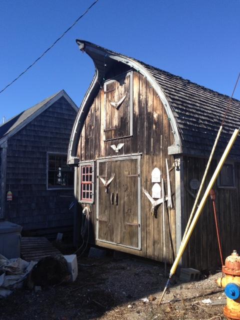 Scandinavian style fishing shack, Marblehead MA neversaydiebeauty.com @redAllison