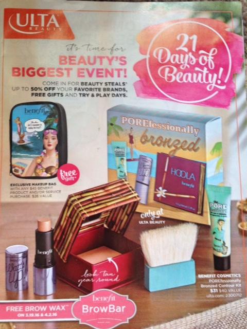 Ulta 21 Days of Beauty Spring 2016 catalogue neversaydiebeauty.com @redAllison