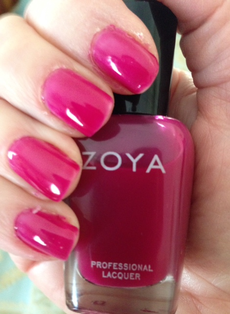 Zoya Professional Nail Lacquer, shade Paloma, a raspberry jelly neversaydiebeauty.com @redAllison