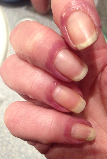bare nails with Liquid Palisade around the edges neversaydiebeauty.com @redAllison