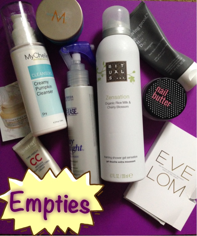 my empty beauty products for February 2016 neversaydiebeauty.com @redAllison