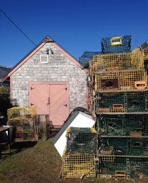 fishing shack with lobster traps, Marblehead MA neversaydiebeauty.com @redAllison