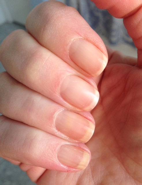 my nails wearing Barielle Protect Plus Color Nail Strengthening Polish neversaydiebeauty.com @redAllison