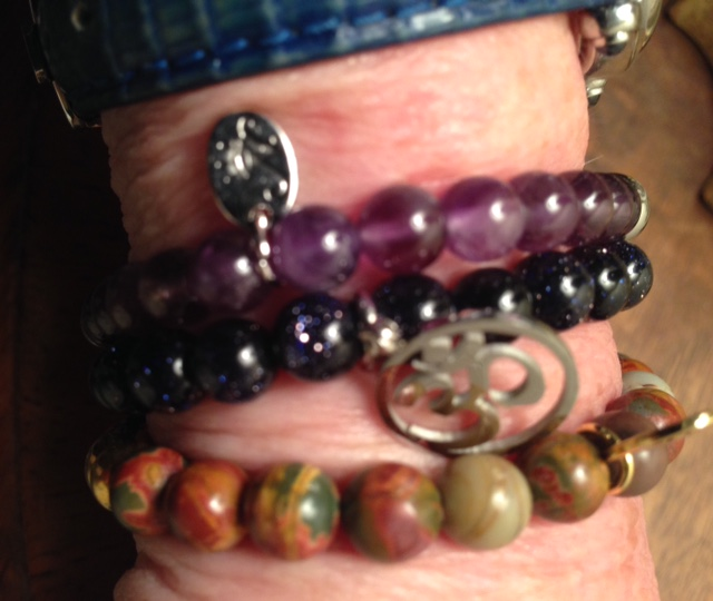 Joseph Nogucci beaded bracelets on my wrist neversaydiebeauty.com @redAllison