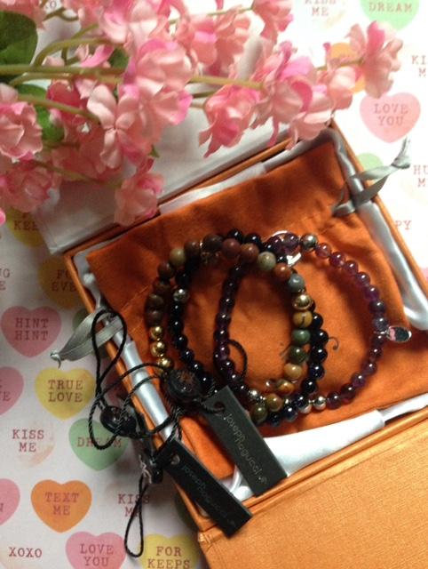 Joseph Nogucci bracelets nestled in presentation box neversaydiebeauty.com @redAllison