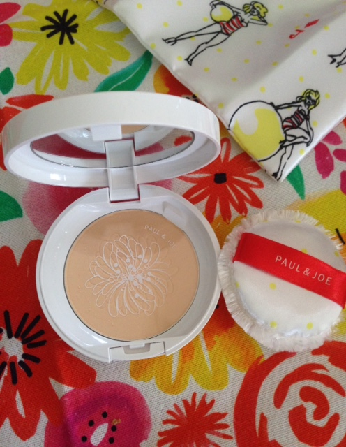Paul & Joe Silky Pressed Powder compact & puff neversaydiebeauty.com @redAllison