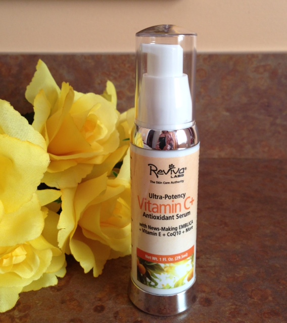 Reviva Labs Ultra Potency Vitamin C+ Antioxidant Serum with EMBLICA neversaydiebeauty.com @redAllison