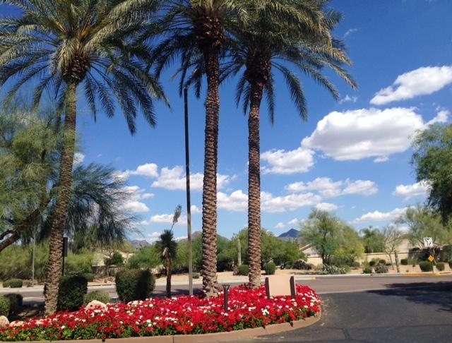 front entrance Sheraton Desert Oasis Villas, Scottsdale AZ neversaydiebeauty.com