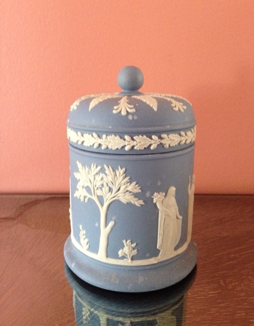 Wedgwood storage jar neversaydiebeauty.com @redAllison