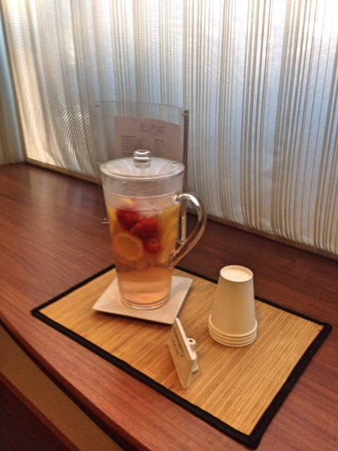 fruit tea at Bella Sante Spa Boston neversaydiebeauty.com @redAllison