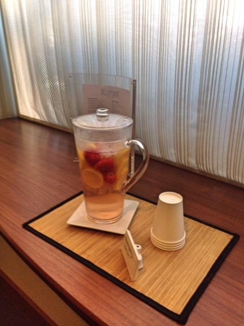 fruit tea at Bella Sante Spa Boston neversaydiebeauty.com @redAllison