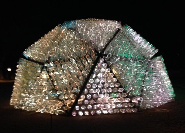 Bruce Munroe geodesic dome installation Desert Botanical Gardens, Scottsdale AZ