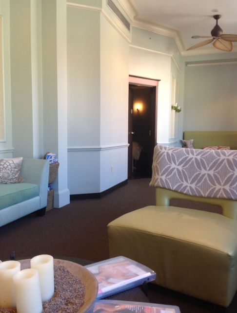Bella Sante Spa Boston waiting room
