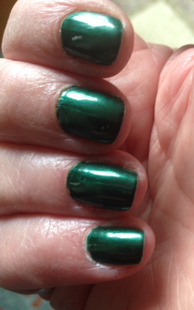 my nails wearing Chrome Girl limited edition JADED nail polish neversaydiebeauty.com @redAllison