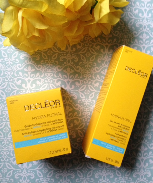 Decleor Hydra Floral Anti-Pollution Gel-Cream and Active Lotion outer pacakging neversaydiebeauty.com @redAllison