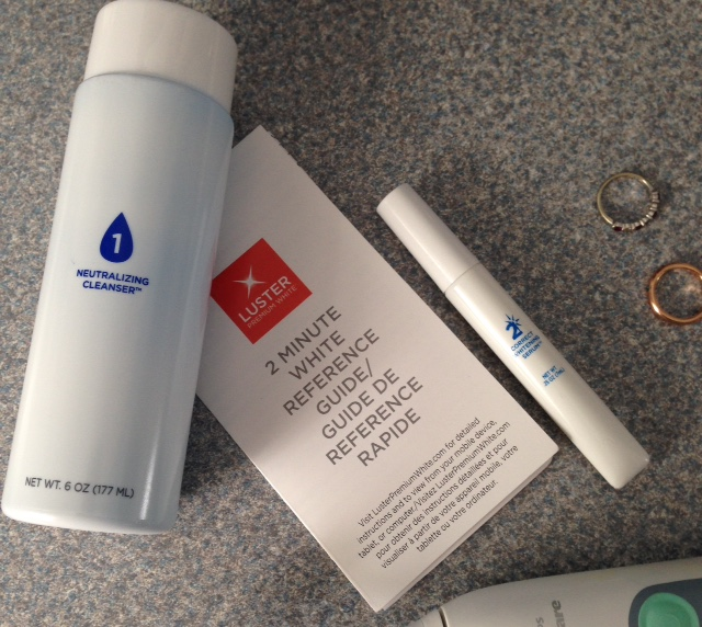 items in the Luster 2 Minute White dental Treatment kid neversaydiebeauty.com @redAllison