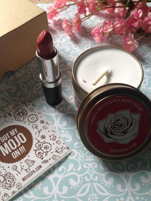 MojoSpa lipstick candle melt body lotion neversaydiebeauty.com @redAllison