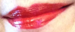 RealHer lipstick: Be Yourself Be RealHer, deep red lips neversaydiebeauty.com @redAllison