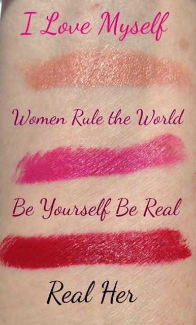 RealHer lipstick swatches neversaydiebeauty.com @redAllison