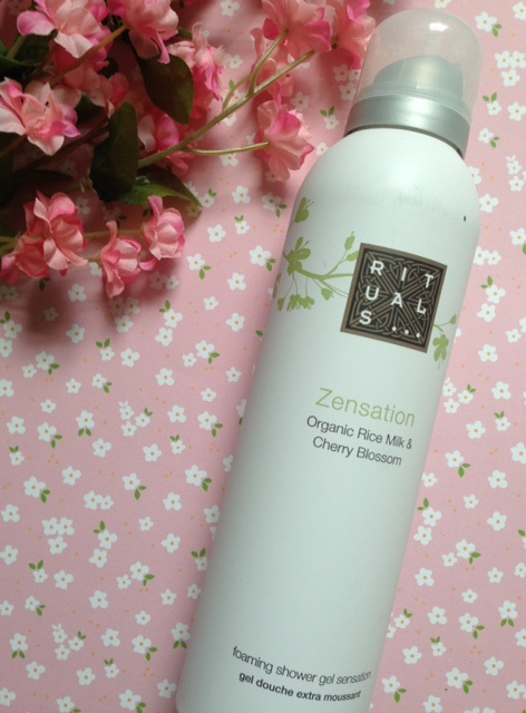 Rituals Zensation Foaming Shower Gel in cherry blossom scent neversaydiebeauty.com @redAllison