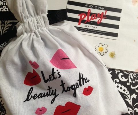 Sephora Play! beauty box with drawstring bag for May 2016 neversaydiebeauty.com @redAllison