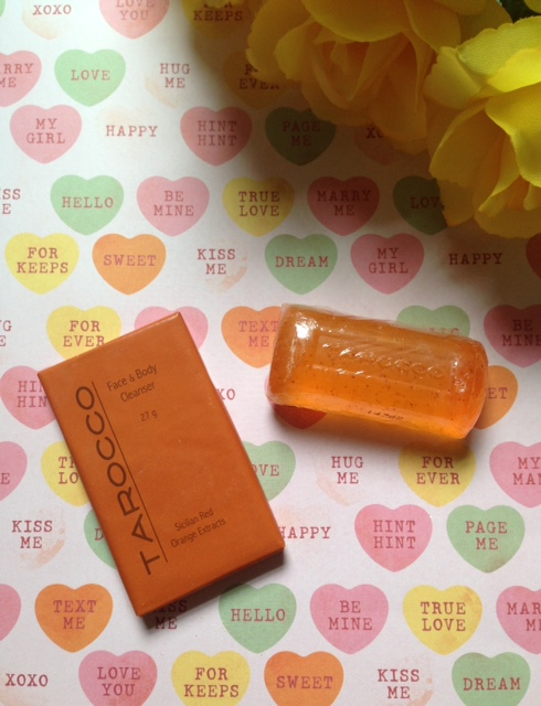 Tarocco Sicilian Blood Orange travel size glycerin and complexion soaps neversaydiebeauty.com @redAllison