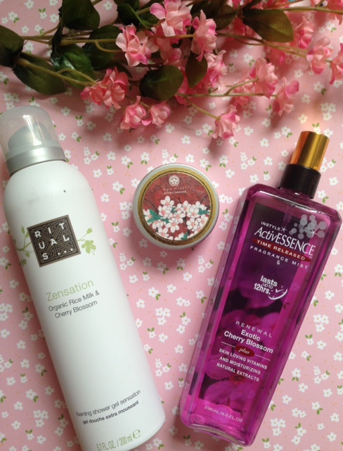 cherry blossom scented skincare products neversaydiebeauty.com @redAllison