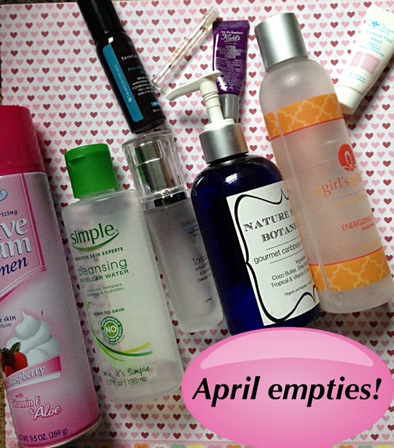 empty beauty products April 2016 neversaydiebeauty.com @redAllison