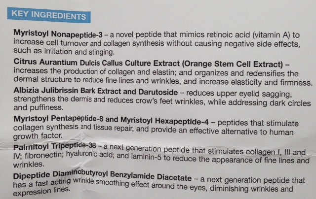 PCA Skin Ideal Complex Revitalizing Eye Gel list of key ingredients neversaydiebeauty.com