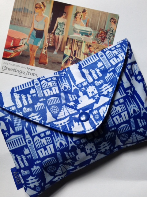 ipsy makeup bag and theme card , May 2016, Destination Chic neversaydiebeauty.com @redAllison