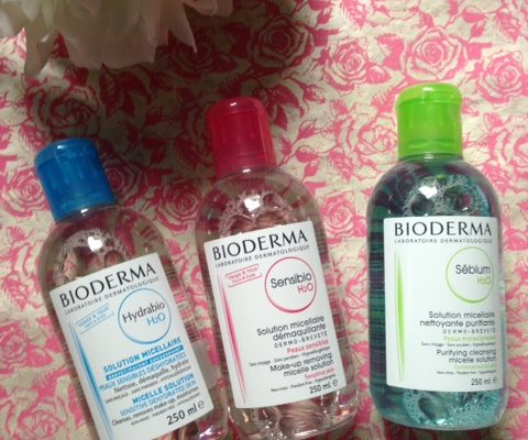 Bioderma's 3 micellar waters for 3 different skin types: Sensiobio, Hydrabio, Sebium neversaydiebeauty.com @redAllison