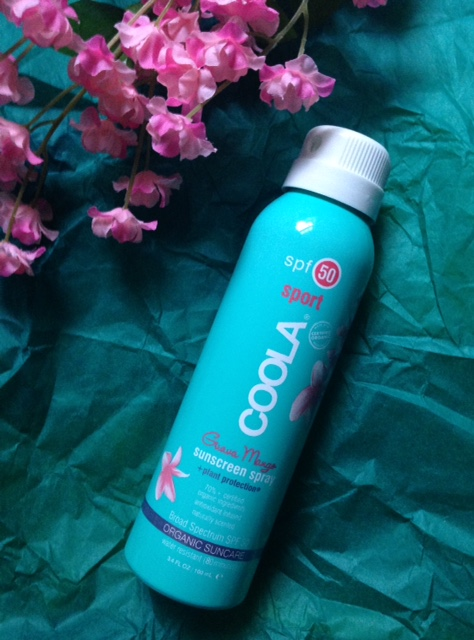Coola Sport Sunscreen Spray SPF 50 Guava Mango neversaydiebeauty.com @redAllison