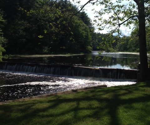 Ipswich River, upriver view from the falls at Foote Brothers neversaydiebeauty.com @redAllison